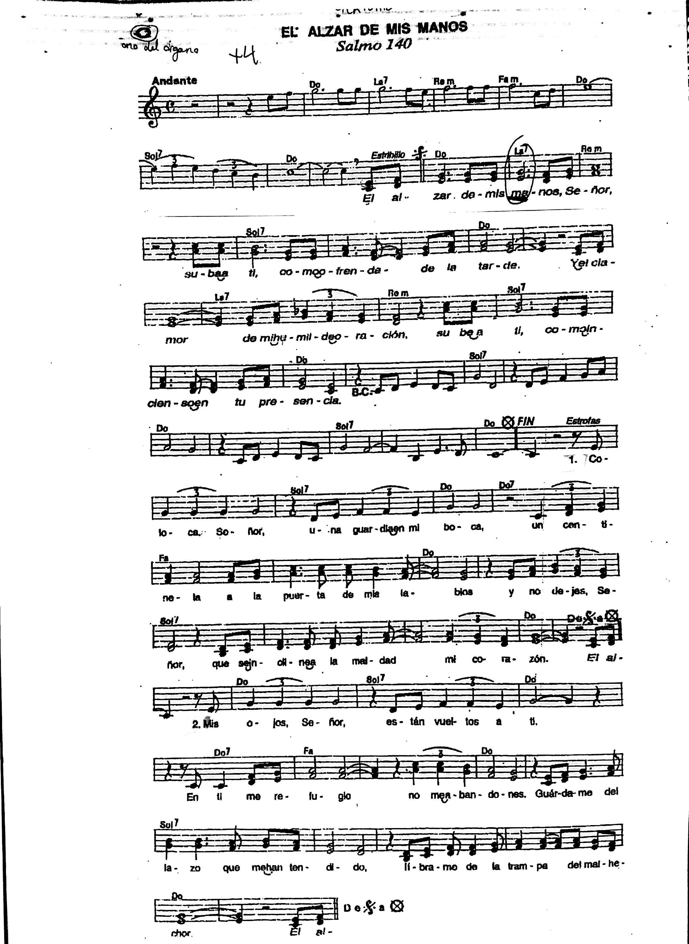 Cantos de ofertorio acordes for Tu jardin con enanitos acordes